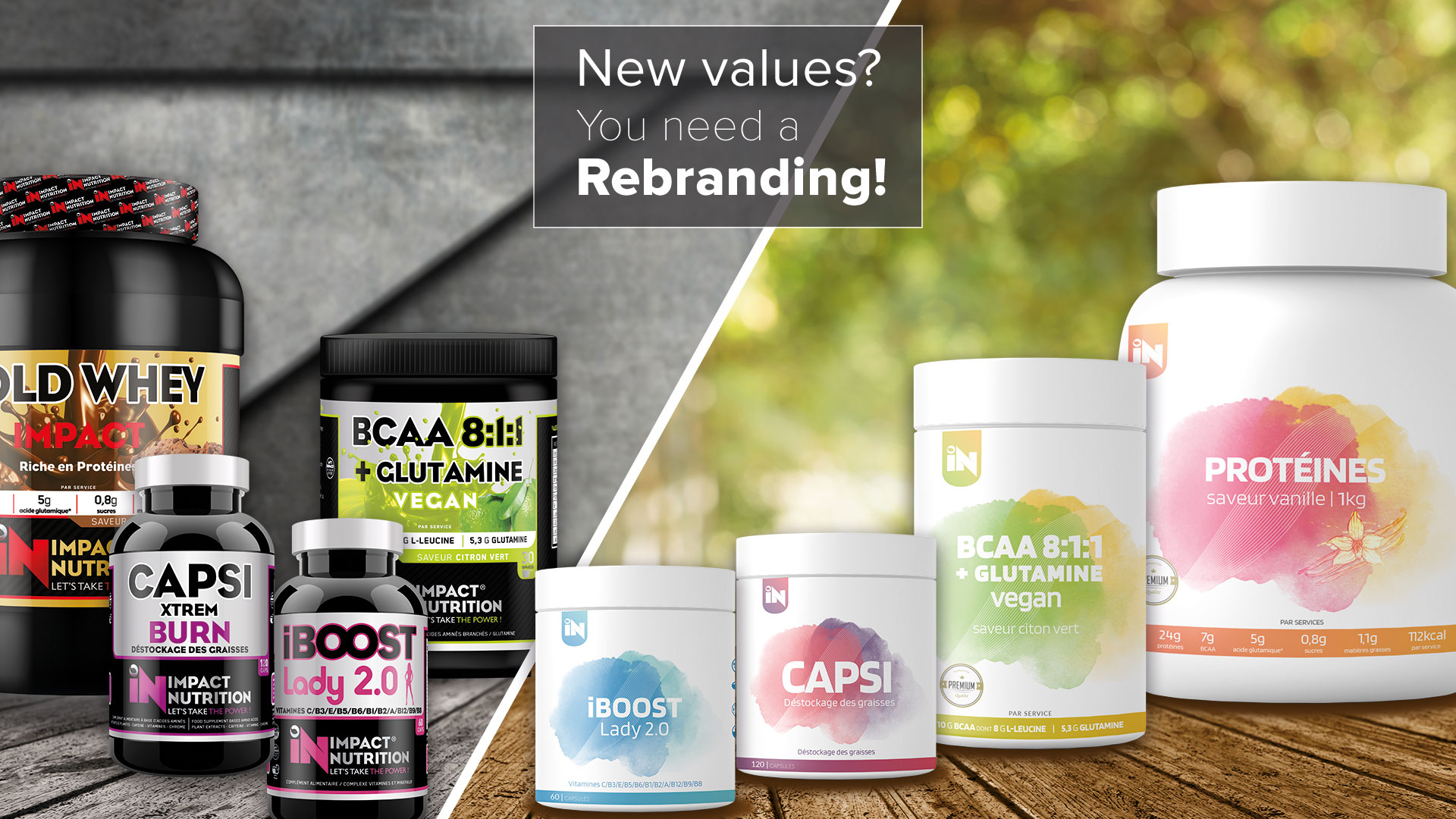 New values ? You need a rebranding.